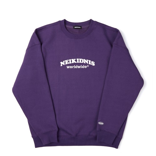 [기모] WORLD LOGO SWEAT SHIRT / PURPLE