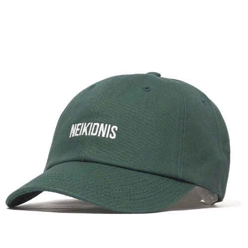 LOGO COTTON BALL CAP / DEEP GREEN
