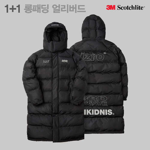 [1+1][EXO세훈 착용]3M SCOTCH LOGO COLLABO LONG PADDING